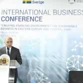 """საერთაშორისო ბიზნეს კონფერენცია   """"ხელშემწყობი გარემოს შექმნა მდგრადი ბიზნესისთვის აღმოსავლეთ ევროპასა და ცენტრალურ აზიაში"""""""