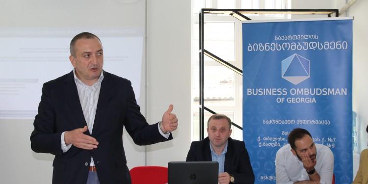 ბიზნესომბუდსმენის აპარატმა და საქართველოს სავაჭრო-სამრეწველო პალატამ ევროკავშირისა და გაეროს განვითარების პროგრამის (UNDP) ხელშეწყობით მედიაციისა და არბიტრაჟის უპირატესობების შესახებ რეგიონული შეხვედრების სერია დაასრულეს